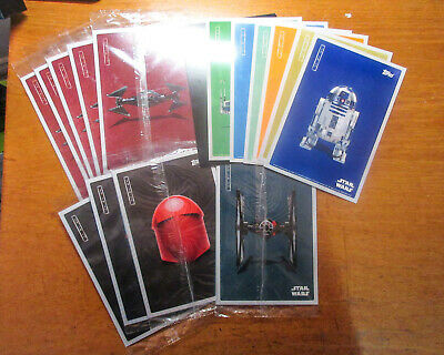 9 Sealed Packs! Star Wars The Last Jedi Topps Jumbo Trading Cards Premiere