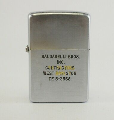ZIPPO Lighter BALDARELLI BROS. CONTACTORS Advertising vintage West Boylston MA