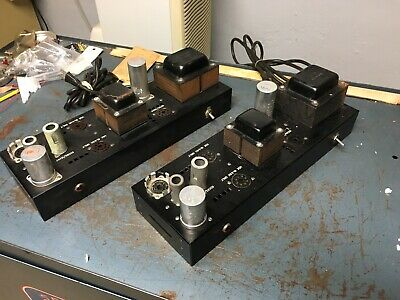 Bogen pair of MO-30 tube amps - early style - 1950's - uses 6L6 GC