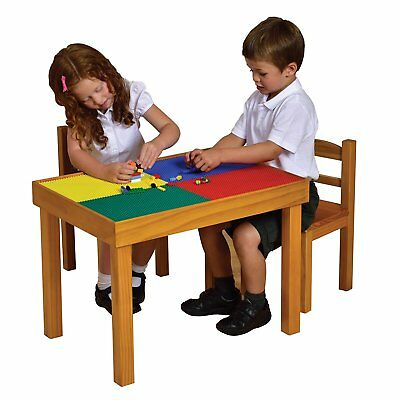 Building Wooden Table and Chairs Set for use with LEGO USED GOOD CONDITION