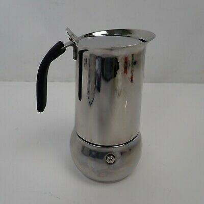 Bialetti 4885 Kitty Espresso Maker for 10 Cups, Aluminium, Silver USED ONCE