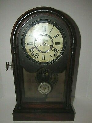 Antique Seth Thomas Arch Top Mantel Clock with Lyre Movement, Time/Strike, 8-Day