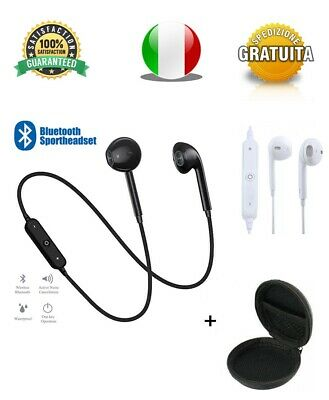 Cuffie Bluetooth 4.1 Sport Auricolari Wireless Iphone Samsung Huawei + Custodia
