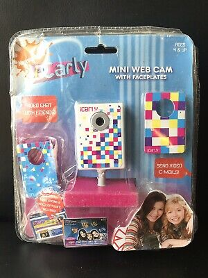NEW IN PACKAGE~ NICKELODEON iCARLY MINI WEB CAM WITH FACEPLATES