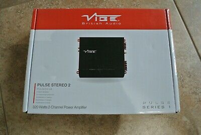 Vibe Pulse Stereo 2 320 Watts 2-Channel Power Amplifier - New