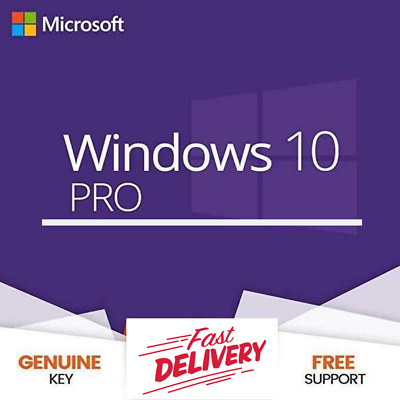 INSTANT Microsoft Windows 10 Pro Professional 32/64bit License activation-Key