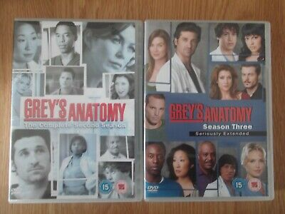 Grey's Anatomy Season 2 & 3 Seriously Extended Dvd Box Sets 14 Discs Watched Onc