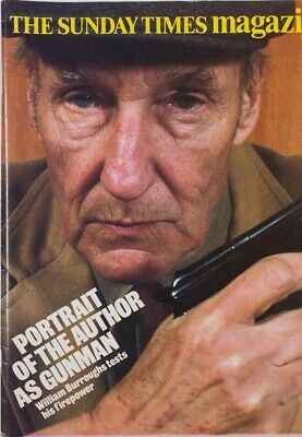 William Burroughs PORTRAIT OF THE AUTHOR AS A GUNMAN Sunday Times magazine RARE!