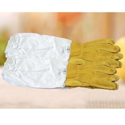 2Pcs Hot Beekeeping Gloves Bee Gloves Long Sleeve Elastic Beekeeping Gloves