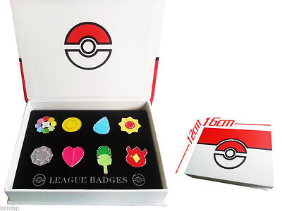 Pokemon Go Gym Badges Gen 1 Kanto League Complete Set of 8 Cosplay Metal Pins #A