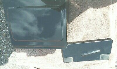 Harley 1997-05 FXD  Black Metal Battery Box, Lid & Cover