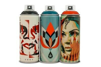 Obey/Shepard Fairey X Montana Spray Can Paint Set Beyond The Street 30th Anni