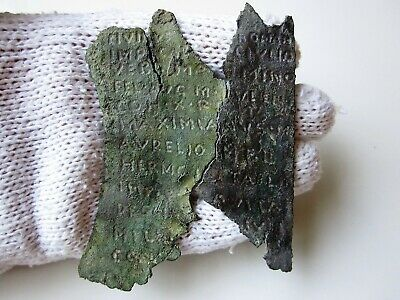 VERY RARE and unique ancient Roman MILITARY DIPLOMA I - II AD / 2 parts.