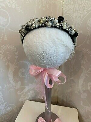 Mad Hatter Pretty Beaded Headband  Perfect  For Wedding and Bridesmaids