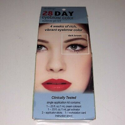 NEW Godefroy 28 Day Permanent Eyebrow Color Gel Tint 1 Application, Dark Brown