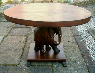 Antique  Anglo/ Indian  Wooden Elephant Side Table