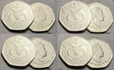 2017-2018-2019 LOAGHTAN SHEEP RAM Isle of Man 50p Fifty Pence Coin UNC IOM