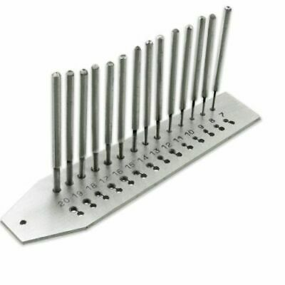 Jewellers Watchmakers Micro Mini Tap And Die Screw Plate Set 14 Taps 0.7-2.0m