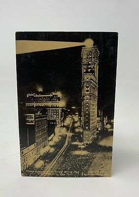 Times Square Postcard New York City NYC Vintage Great White Way Theatre 18-1632H