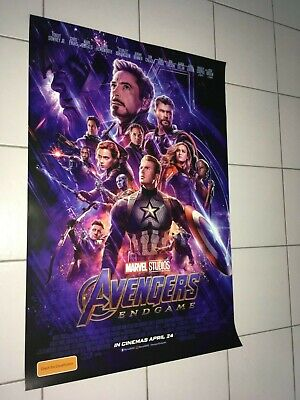 Marvel Avengers End Game  2019 Extremely Rare Aust Orig Ds Os Cinema Poster # 1