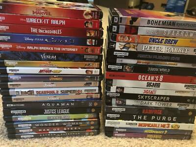 ** 4K Movie Lot | You Pick | Marvel/Disney New Releases | Combined Shipping **