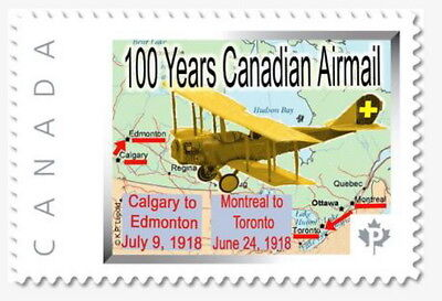 Canada 100 Years  AIRMAIL Anniv. -Picture Postage - CDN Commemorative Stamp