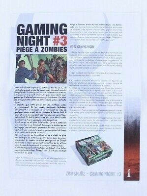 Zombicide Bill /& Bill zombie with card Game Night #3 skull tracker promo