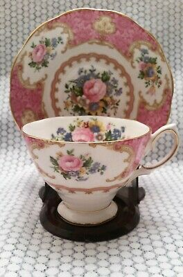 Royal Albert Lady Carlyle Fine Bone China Tea Cup and Saucer- England 1980-2001