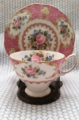 Royal Albert Lady Carlyle Fine Bone China Tea Cup and Saucer- England 1980-2003