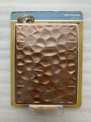 Hampton Bay Wireless or Wired Doorbell Hammered Copper #1003008638 #HB-7622-03
