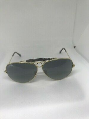 a85165172 Ray-Ban RB 3138 181/71 AVIATOR SHOOTER GOLD/GREY GRADIENT LENS SUNGLASSES