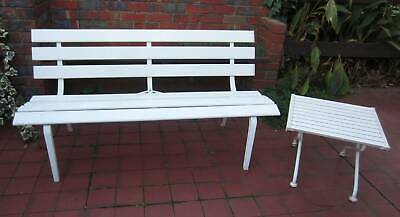 Vintage Outdoor Garden Setting Bench Seat Table