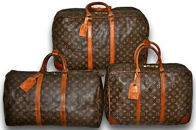 Lot LOUIS VUITTON Monogram Keepall 50 Sirius 45 Sac 3 Poche Carry On Travel Bags
