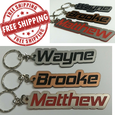 NAME Acrylic Key Ring - PERSONALISED ANY SPELLING - MADE TO ORDER. {HEMI FONT}