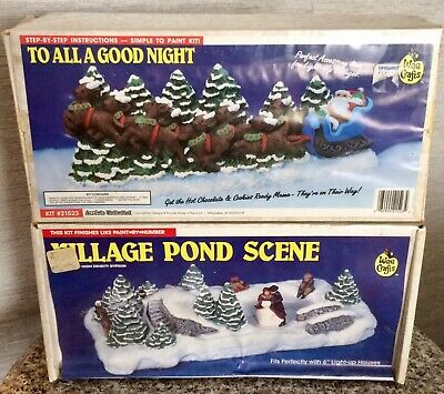 Sealed! WEE CRAFTS TO ALL A GOOD NIGHT #21523 & VILLAGE POND SCENE #21518