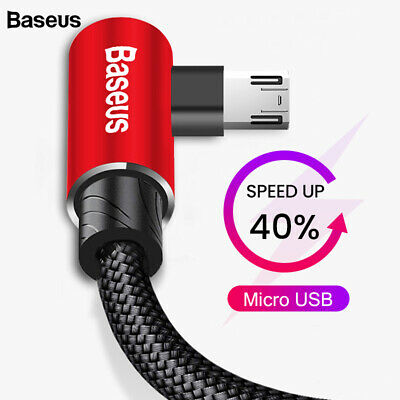 Baseus 90 Degree L Shape Reversible Micro USB Charging Cable for Samsung Android