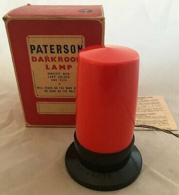 Vintage Paterson Darkroom Lamp, Safelight Camera Photography Developing 35mm