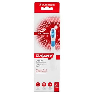 NEW Colgate Omron Electric Toothbrush Heads Refill - 2 Brush Heads
