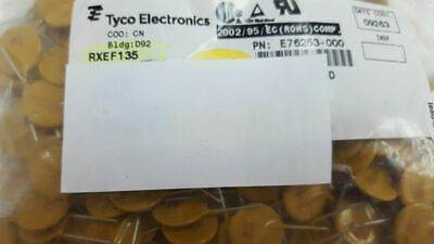 200 X TYCO RXEF135 E76253-000 Resettable Fuses - PPTC Radial Lead 1.35A 72V 40A