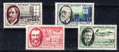 FRANCE 1957 TIMBRE N° 1095 à 1098 SERIE PERSONNAGES CELEBRES ** LUXE