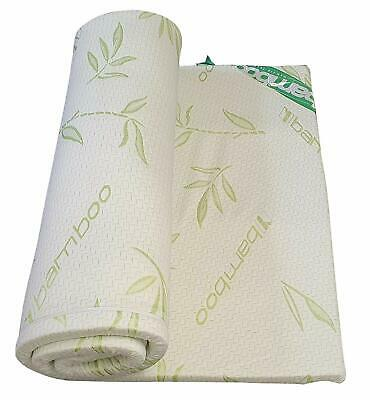 Memory Foam Mattress Bamboo Topper Enhancer 1 or 2 Inch Thickness Zipped Cover