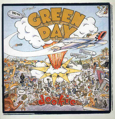 Green Day Dookie Lp Album Front Cover Poster Page