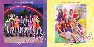NATURE [I'M SO PRETTY] 1st Mini Album (2Ver SET) 2CD+2PhotoBook+4P.Card+4Poster