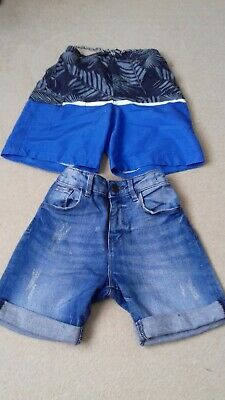 Two pairs of boys shorts immaculate condition size 7/8 yrs