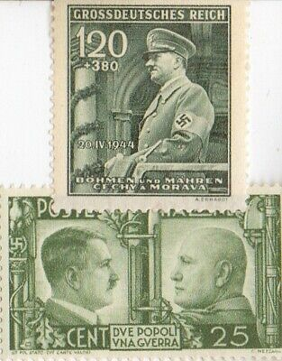 - Antique  Stamps  of *WW2- DICTATORS + *german  SILVER EAGLE coin
