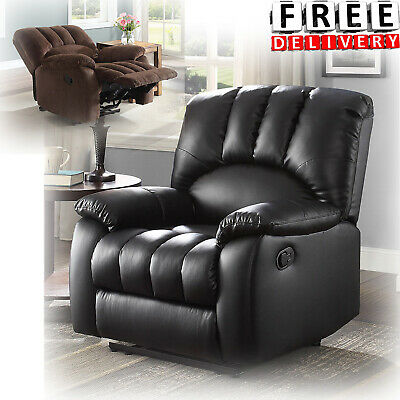 Recliner Rocker Chair Armrest Lounge Moore Deluxe Sofa Furniture Padded Chaise