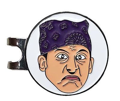 PRISON MIKE Golf Hat Clip with Enamel Magnetic Ball Marker