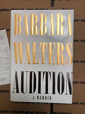 Barbara Walters Autograph Audition A Memoir Hand Signed Book