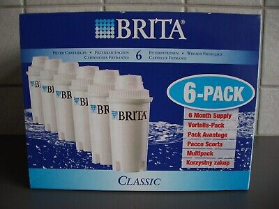 Brita Classic Replacement Filter Cartridges – 6-Pack – New/Sealed/ Boxed