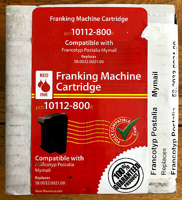 2 x Franking Machine Cartridges red 10112-800 replacement for 58.0032.0021.00